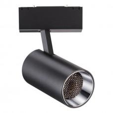 358068 NT19 011 черный Трековый светильник для низковольтного шинопровода IP20 LED 4000К 12W 24V KIT
