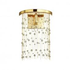 4844/1W HALL ODL21 341 золото/металл.цепочки /стекло Бра E14 1*40W RAINI