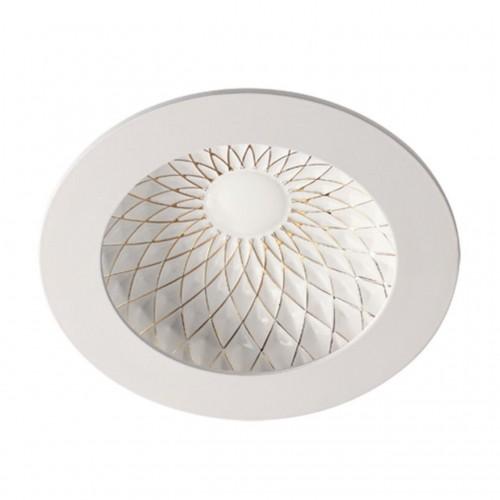 357502 NT18 141 белый/золото Встраиваемый светильник IP20 LED 3000K 7W 85-265V GESSO