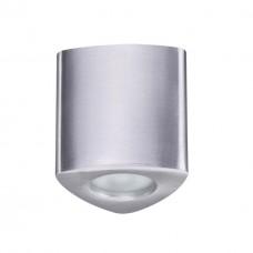 3573/1C ODL18 матовый алюминий Потолочный накладной светильник IP44 GU10 1*50W 220V AQUANA