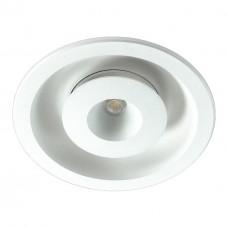 357350 NT17 080 белый Встраиваемый светильник IP20 LED 3000K 3W+3W 85-265V GESSO