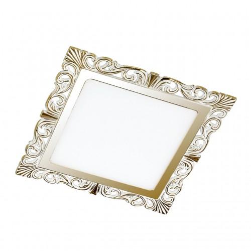 357280 NT16 141 белый/золото Встраиваемый светильник IP20 LED 3000K 15W 220-240V PEILI