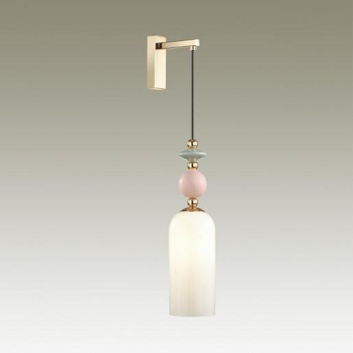 4861/1WA CLASSIC ODL_EX21 золото/раноцветн./керамика/стекло Бра E14 1*40W CANDY