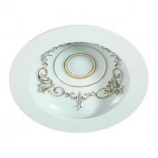 357360 NT17 141 белый/золото Встраиваемый светильник IP20 LED 3000K 9W 85-265V GESSO