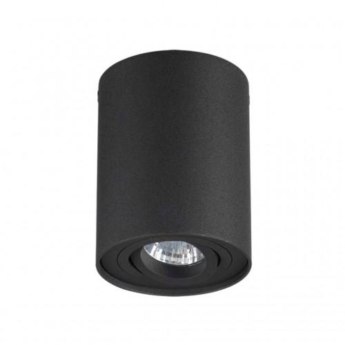3565/1C ODL18 185 черный Потолочный накладной светильник IP20 GU10 1*50W 220V PILLARON