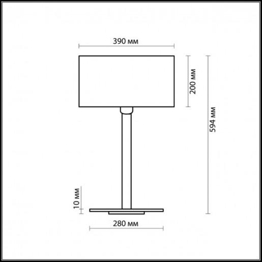 2421/1T ODL13 340 хром/абажур/кремов Н/лампа E27 60W 220V NORTE