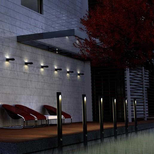 358585 STREET NT21 000 белый Светильник ландшафтный светодиодный IP65 LED 4000K 18W 220-240V KAIMAS