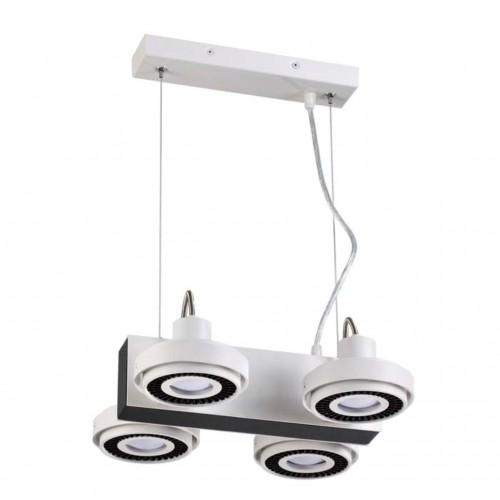 3490/4 ODL18 белый с черным Подвесной светильник IP20 GU10 4*50W 220V SATELIUM