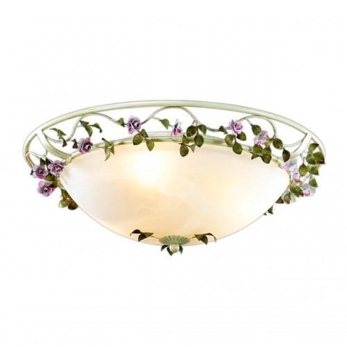 2796/3C ODL15 598 беж/декор.цветы/стекло Н/п светильник E27 3*60W 220V TENDER