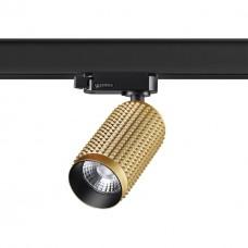 358500 PORT NT21 000 золото Трехфазный трековый светодиодный cветильник IP20 LED 4000K 12W 220V MAIS LED