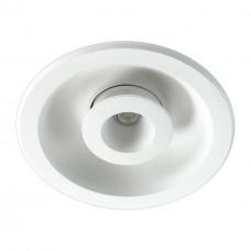 357351 NT17 080 белый Встраиваемый светильник IP20 LED 3000K 5W+5W 85-265V GESSO