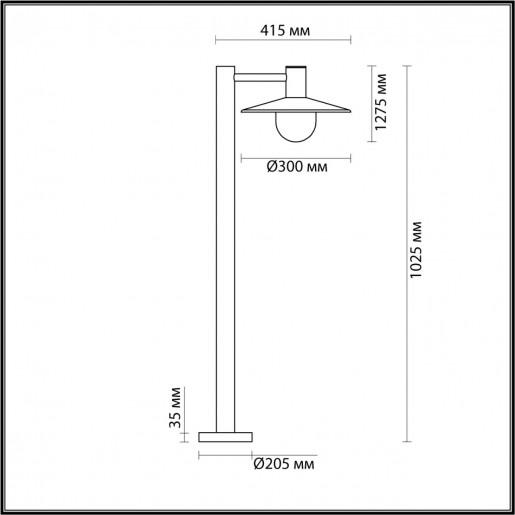 4833/1F NATURE ODL21 565 черный/стекло Ландшафтный светильник E27 1*40W IP44 FURCADIA