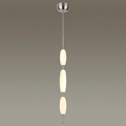 4793/28L PENDANT ODL21 009 никель/белый Подвес LED 28W SPINDLE