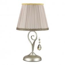 3924/1T ODL18 527 мат.серебро/перламутр/ткань/стекло/хрусталь Настольная лампа IP20 E14 40W 220V MAR