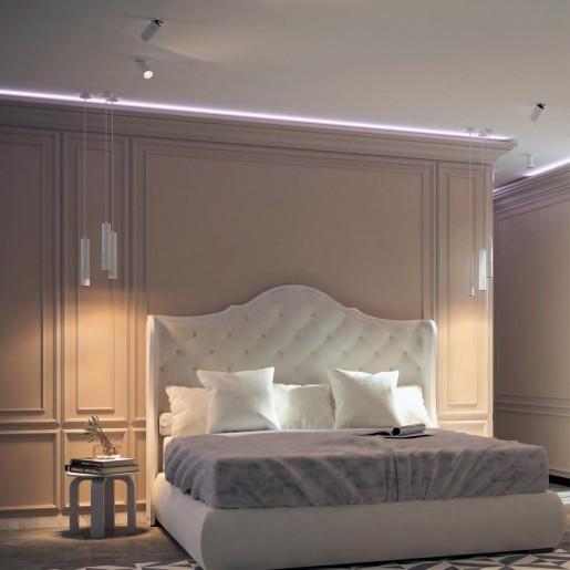 358511 OVER NT21 000 белый Светильник накладной светодиодный, провод 2м IP20 LED 4000K 12W 220V MAIS LED