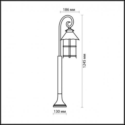 2314/1F ODL12 717 коричневый Уличный светильник 150см IP44 E27 60W 220V LUMI