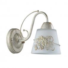 3003/1W LN16 205 белый/зол. патина/стекло/метал.декор Бра E14 40W 220V VEVA