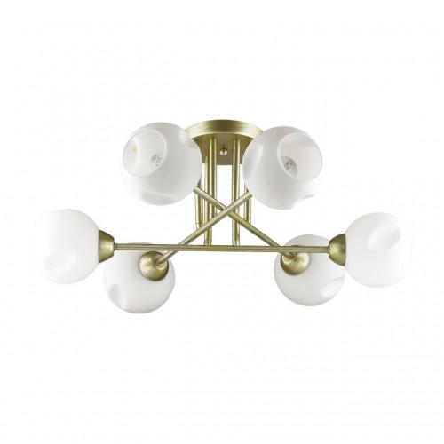 4519/6C COMFI LN20 матовое золото, белый Люстра потолочная E27 6*40W 220V PAIGE