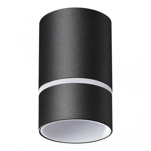 370731 OVER NT21 000 черный Светильник накладной IP20 GU10 9W 235V ELINA
