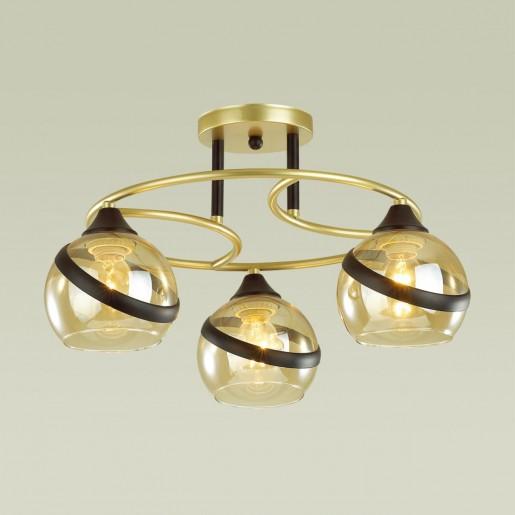 4547/3C COMFI LN21 054 матовое золото, черный Люстра потолочная E27 3*60W 220V EDEN