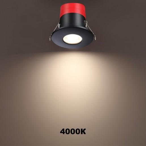358638 SPOT NT21 000 черный Светильник встраиваемый светодиодный диммируемый, смена цв. температуры IP65 LED 3000К4000К5000К 8W 220V REGEN