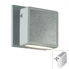 357319 NT16 143 белый/алюминий Светильник-ночник (в розетку) с выкл IP20 LED 3000К 1.2W 220V NIGHT L