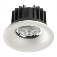 357602 NT18 090 белый Встраиваемый светильник IP44 LED 3000K 10W 100-265V DRUM