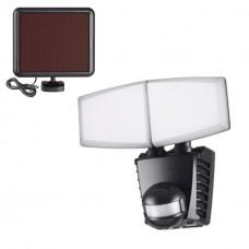 358021 NT19 181 черный Ландшафтный светильник на солнечной батарее IP54 LED 6000К 20W 3.7V SOLAR