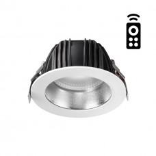 358334 NT19 000 белый/серебро Встраиваемый диммируемый св-к с пультом ДУ IP20 LED 2700~5000К 15W 220