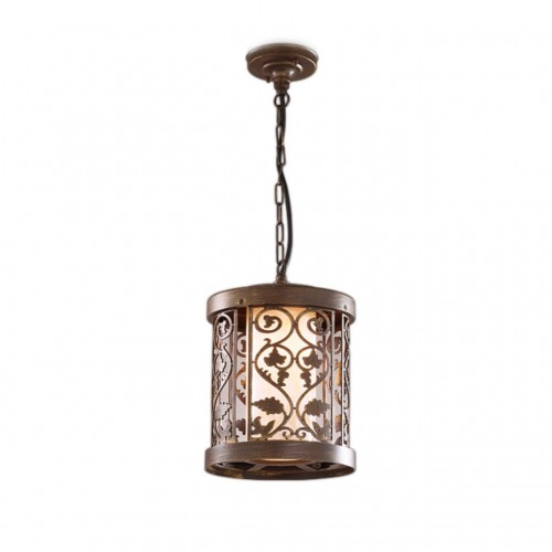 2286/1 ODL12 715 патина коричневый Уличный светильник-подвес IP44 E27 100W 220V KORDI