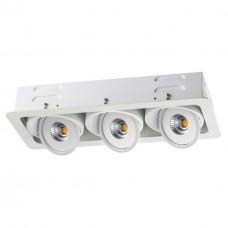 357582 NT18 081 белый Ввстраиваемый светильник IP20 LED 3000K 3*15W 85-265V GESSO