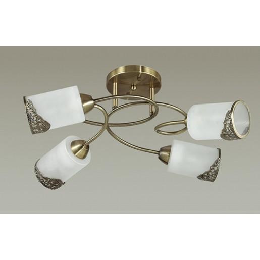 3012/4C LN16 192 бронзовый/стекло/метал. декор Люстра потолочная E27 4*40W 220V CITADELLA