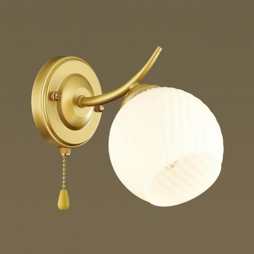 4545/1W COMFI LN21 051 матовое золото, белый Бра E27 60W 220V GISELLE