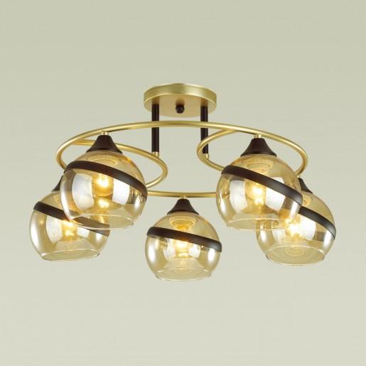 4547/5C COMFI LN21 054 матовое золото, черный Люстра потолочная E27 5*60W 220V EDEN