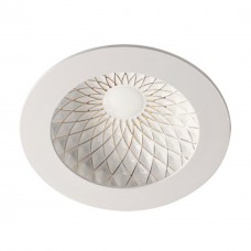 357504 NT18 141 белый/золото Встраиваемый светильник IP20 LED 3000K 15W 85-265V GESSO