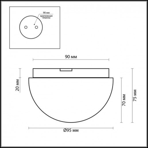2443/1A ODL13 654 хром Потолочный светильник IP44 G9 40W 220V MINKAR