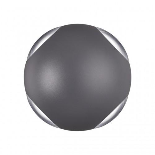 358464 STREET NT20 000 темно-серый Ландшафтный настенный св-ник IP54 LED 4000K 12W 85-265V CALLE