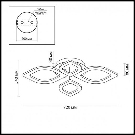 4582/99CL LEDIO LN21 никель Люстра потолочная LED 116W 5130Лм 220V HONEY
