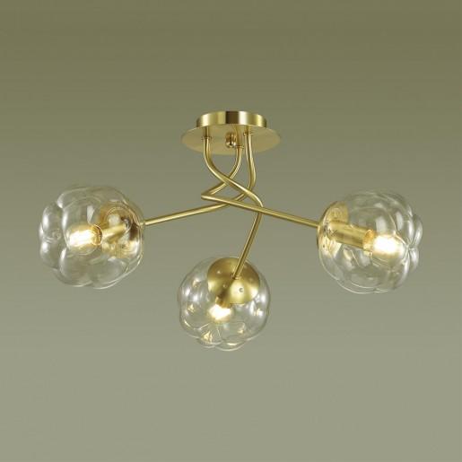 4556/3C MODERNI LN21 золотой Люстра потолочная E14 3*40W 220V BREANA