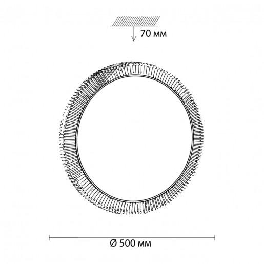 3032/EL SN 026 св-к LERBA GOLD пластик LED 72Вт 3000-6000K D500 IP43 пульт ДУ