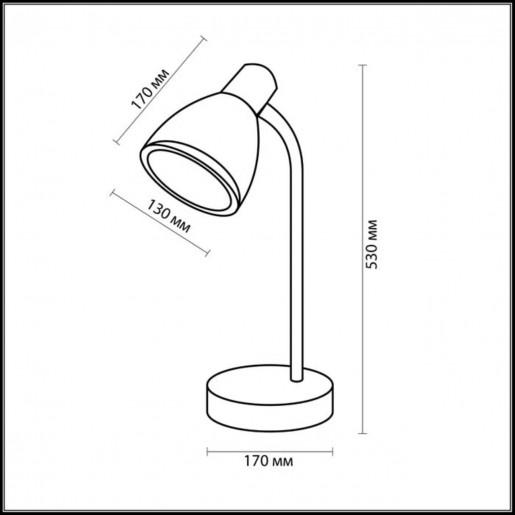 2409/1T ODL13 679 серебристый Н/лампа E27 60W 220V MANSY