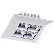 357833 NT18 054 белый/хром Встраиваемый светильник IP33 LED 3000К 10W 110-265V ANTEY
