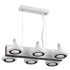 3490/6 ODL18 147 белый с черным Подвесной светильник IP20 GU10 6*50W 220V SATELIUM