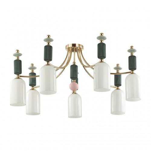 4861/7C CLASSIC ODL_EX21 золото/раноцветн./керамика/стекло Люстра потолочная E14 7*40W CANDY