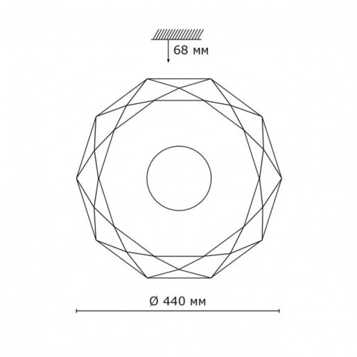 2013/D SN 060 св-к PIOLA пластик LED 48Вт 3950-4136K D440 IP43