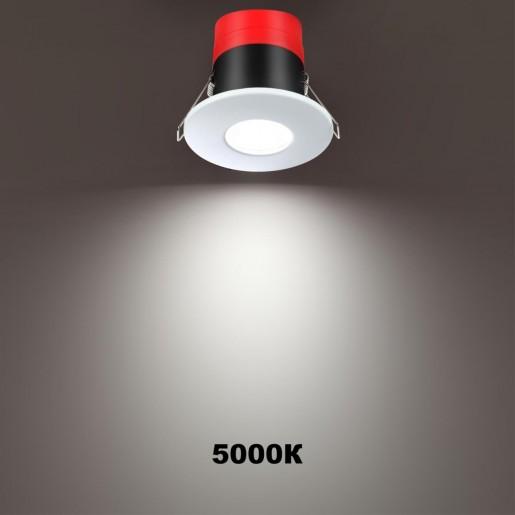 358639 SPOT NT21 000 белый Светильник встраиваемый светодиодный диммируемый, смена цв. температуры IP65 LED 3000К4000К5000К 8W 220V REGEN