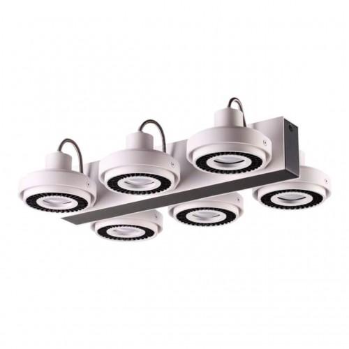3490/6C ODL18 095 белый с черным Потолочный светильник IP20 GU10 6*50W 220V SATELIUM