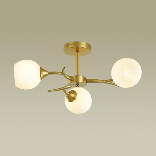 4545/3C COMFI LN21 051 матовое золото, белый Люстра потолочная E27 3*60W 220V GISELLE