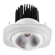357697 NT18 090 белый Встраиваемый светильник IP20 LED 3000K 15W 160-265V DRUM