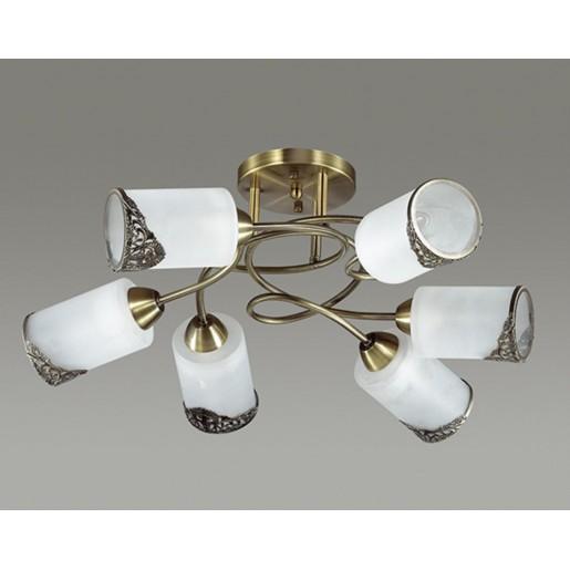 3012/6C LN16 192 бронзовый/стекло/метал. декор Люстра потолочная E27 6*40W 220V CITADELLA
